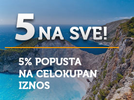 AKCIJA 5% for ALL!  EARLY BOOKING LETO 2020