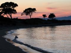 Beautiful sunset in Vourvourou,Halkidiki,Greece