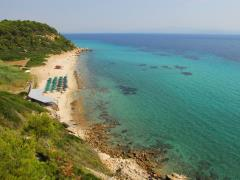 Sandy beach at Kassandra, Halkidiki, Greece