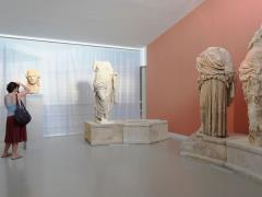 27_People-look-at-ancient-Greek-finds-exhibition-at-Archelogical-Museum-Thassos-Greece.