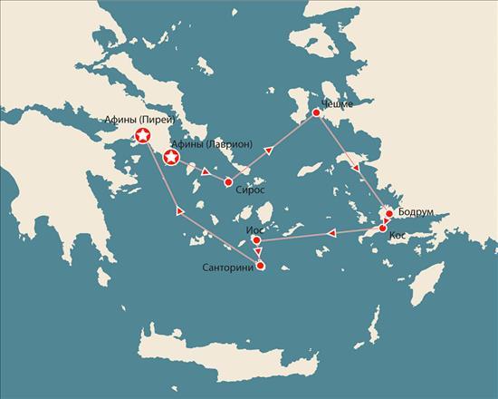 Четырехдневный  круиз «IDYLLIC – 4 греческих острова и Турция» на корабле CELESTYAL CRYSTAL.